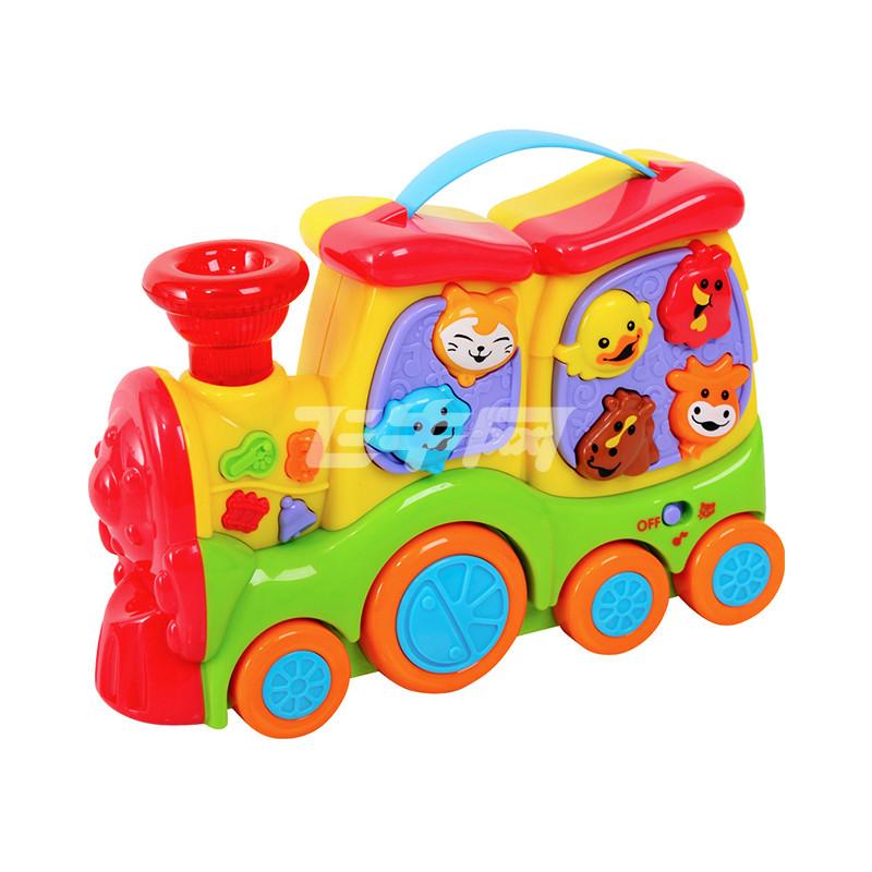 贝乐高动物火车