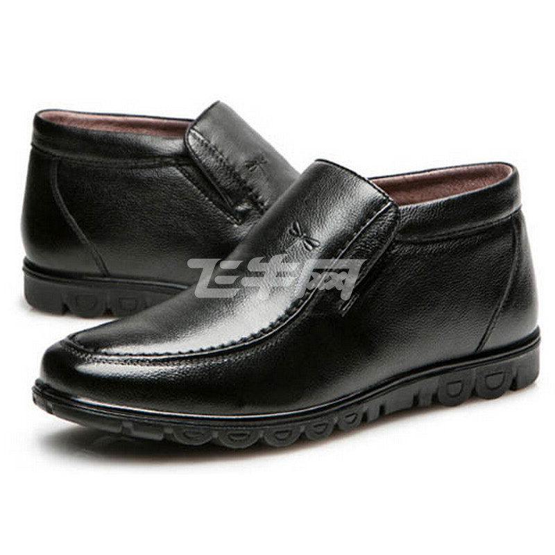 红蜻蜓 时尚休闲套脚男棉鞋