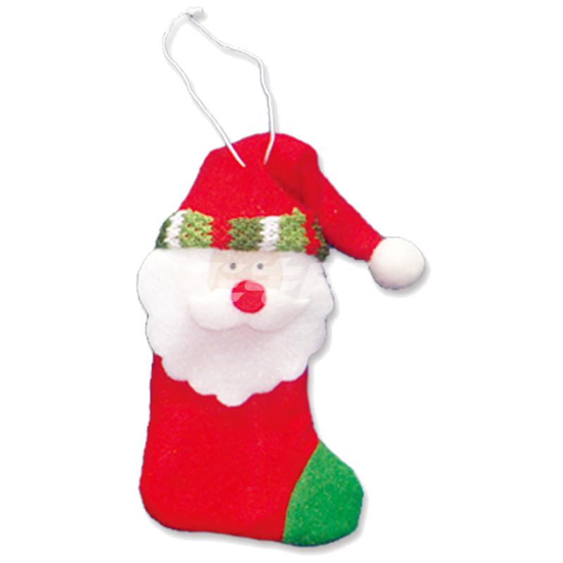焕成 可爱布偶圣诞袜吊饰3种 x-5204 圣诞老公