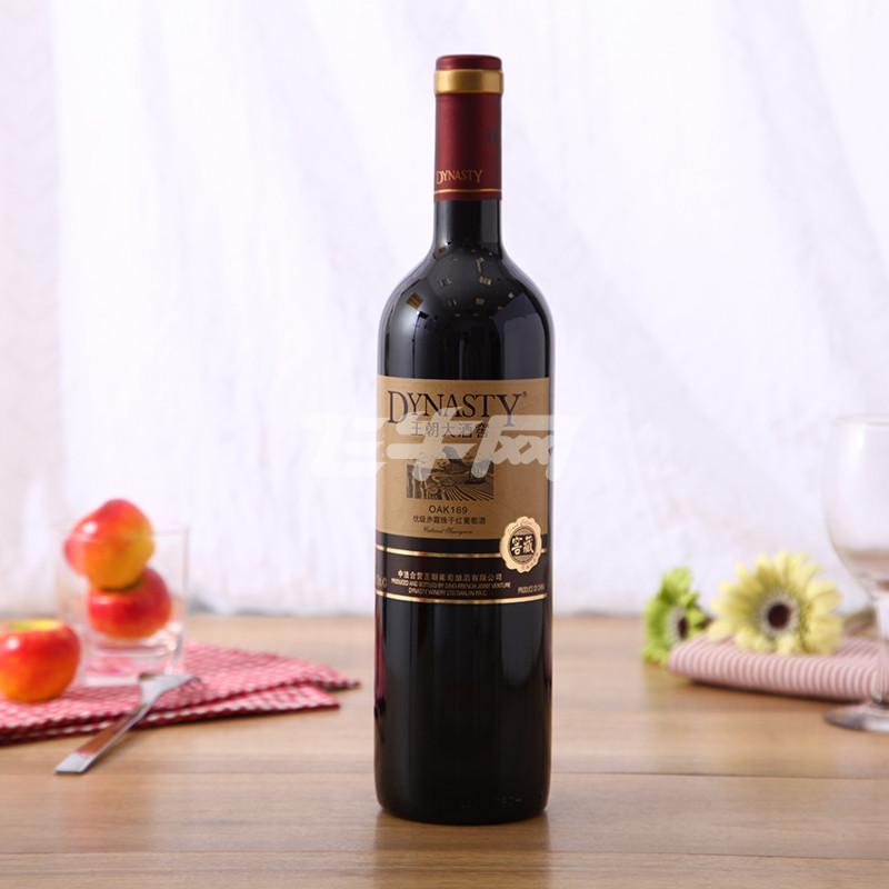 王朝大酒窖oak169赤霞珠干红葡萄酒