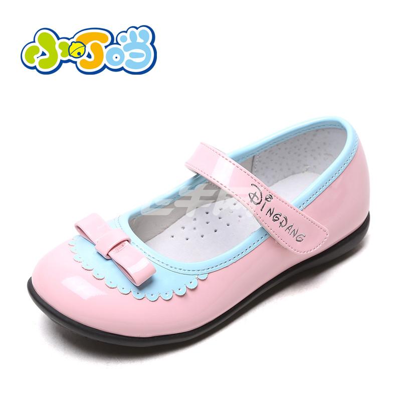 小叮当 童鞋女童皮鞋2015春秋季新款韩版公主鞋方口鞋