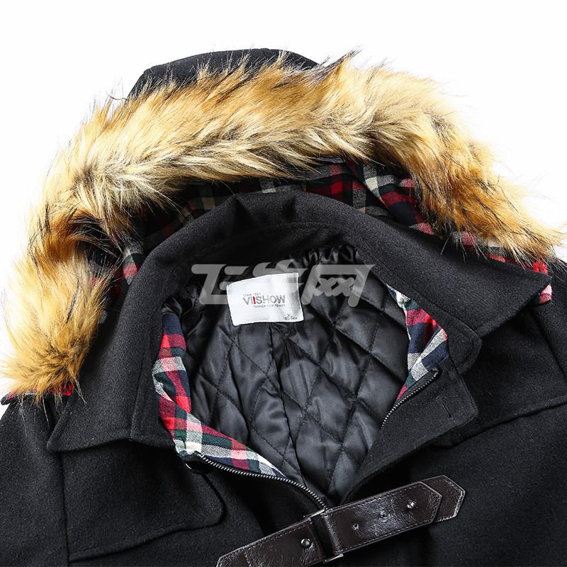 国�y.ly/)�l#�+NY��&_viishow 男装新款冬装呢大衣 欧美简约男士长款连帽