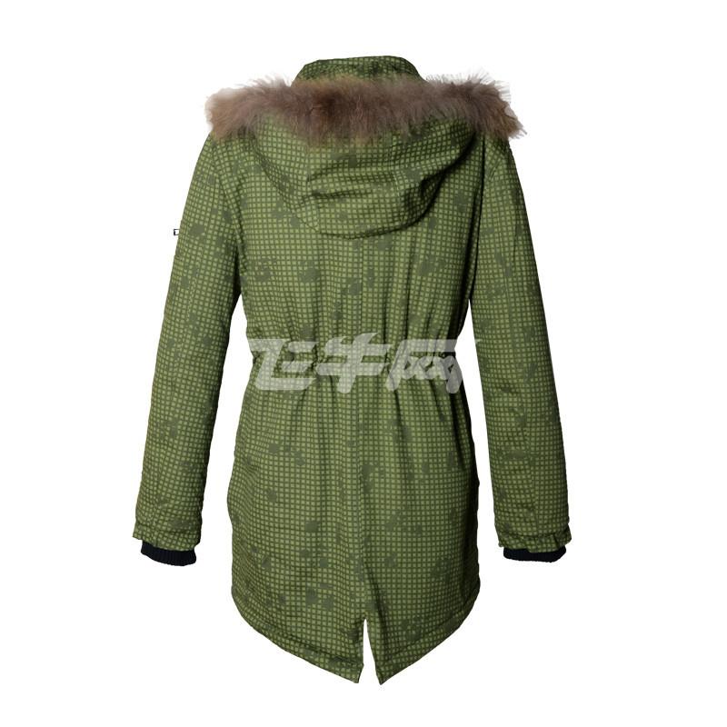 街头潮男中长款直筒型棉服格子外套