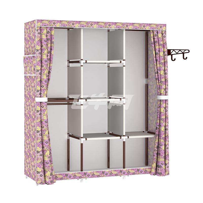 简易衣柜钢架布艺牛津布衣柜钢管组装组合