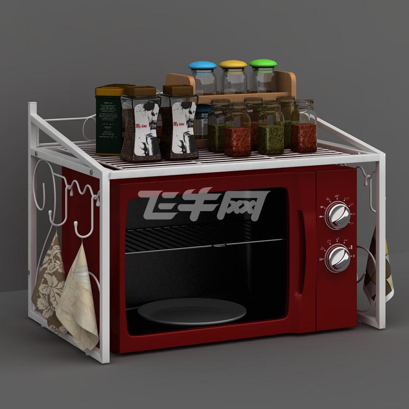 欧式铁艺微波炉架厨房架置物架烤箱架调味架