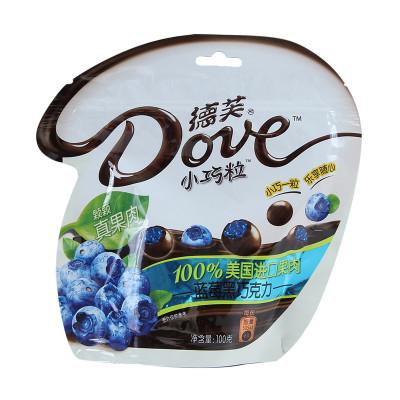 德芙小巧粒蓝莓黑巧克力 100克/袋