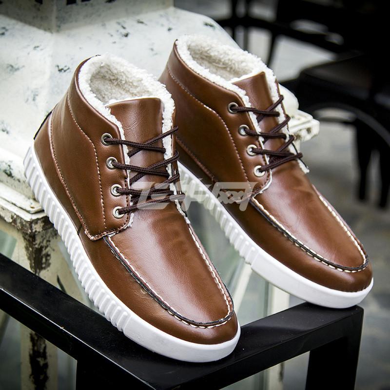 棕色板鞋搭配男
