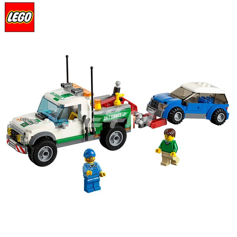 乐高 城市系列拼装积木男孩玩具卡车拖车 l60081