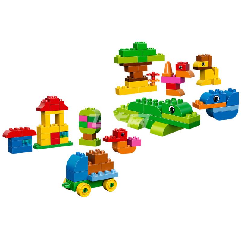 乐高 创意手提箱lego duplo玩具积木益智趣味拼搭