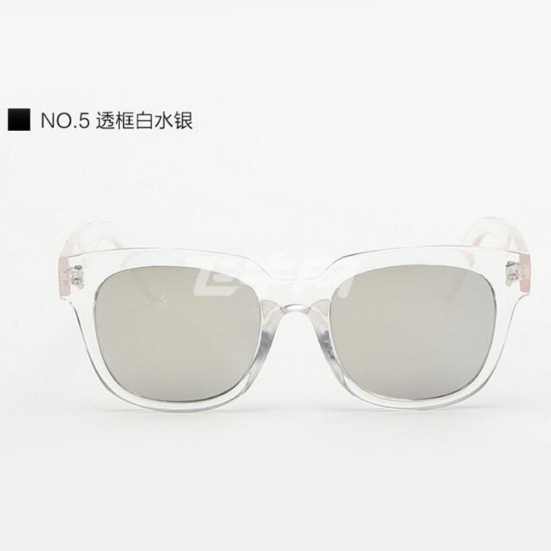欣菲特 爆款太阳镜 韩版眼镜 反光彩膜太阳镜 潮流复古墨镜 1688 透明