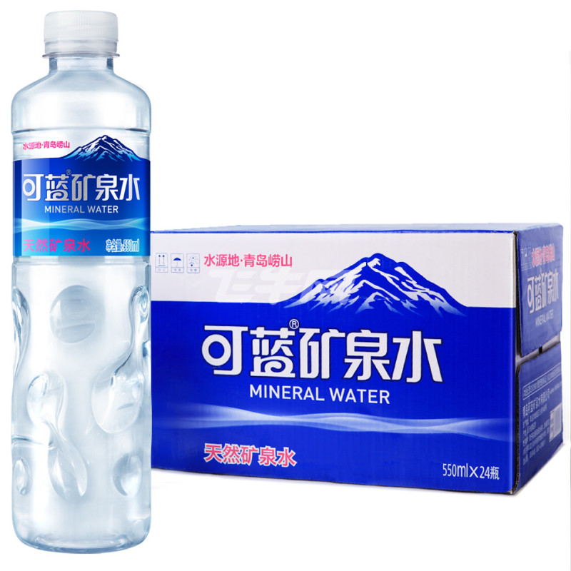 可蓝 矿泉水 550ml*24瓶/箱