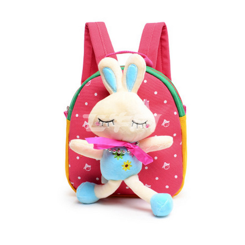 岁男女宝宝幼儿园双肩迷你防走失可爱卡通小书包背包
