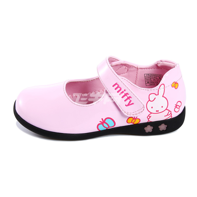 米菲 公主鞋儿童鞋皮鞋女童鞋浅口单鞋学生鞋蝴蝶结可爱小码灯鞋女鞋
