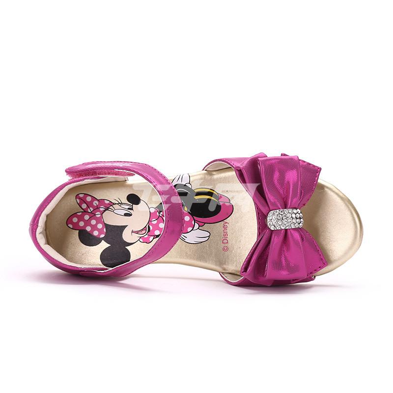 迪士尼 女童凉鞋2016夏季新款可爱公主鞋 ds0143 桃红