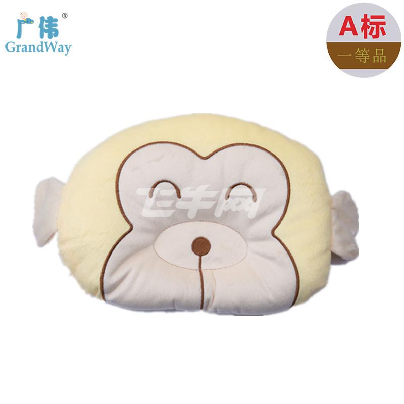 广伟 婴儿枕头宝宝定型枕卡通新生儿幼儿防偏头睡枕纠正头型0-3岁