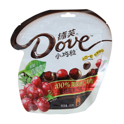 德芙 小巧粒蔓越莓黑巧克力 100克/袋