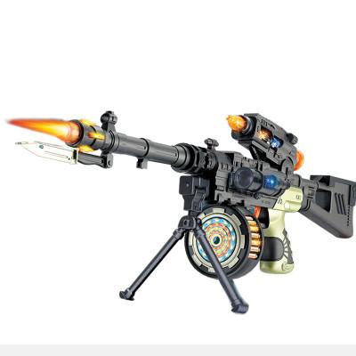 活石 电动声光玩具枪儿童仿真模型枪男孩玩具