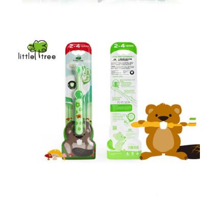 英国小树苗 快乐成长牙刷(2-4岁) 绿色